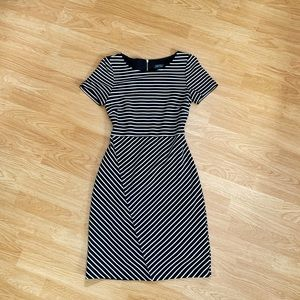 Striped black and white Tahari dress